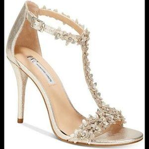 INC International Concepts Shoes - Gold scrappy heels